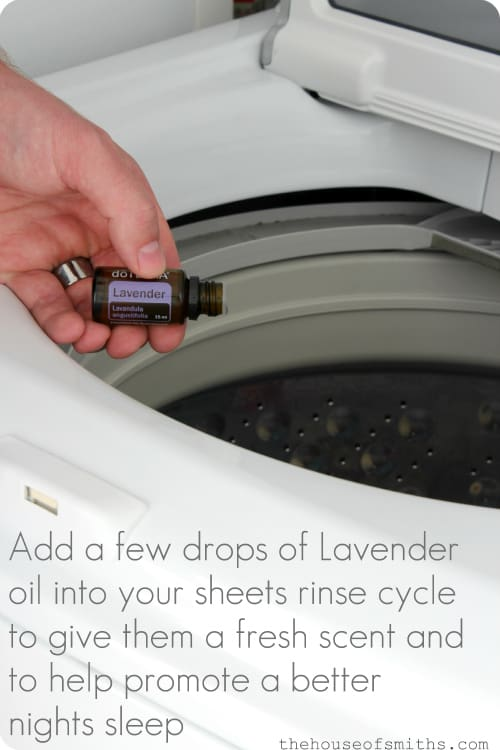 add lavender oil to laundry