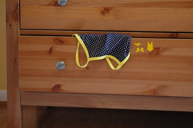 drawer organizing stickers