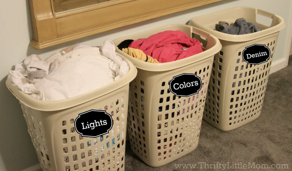 presort your laundry bins