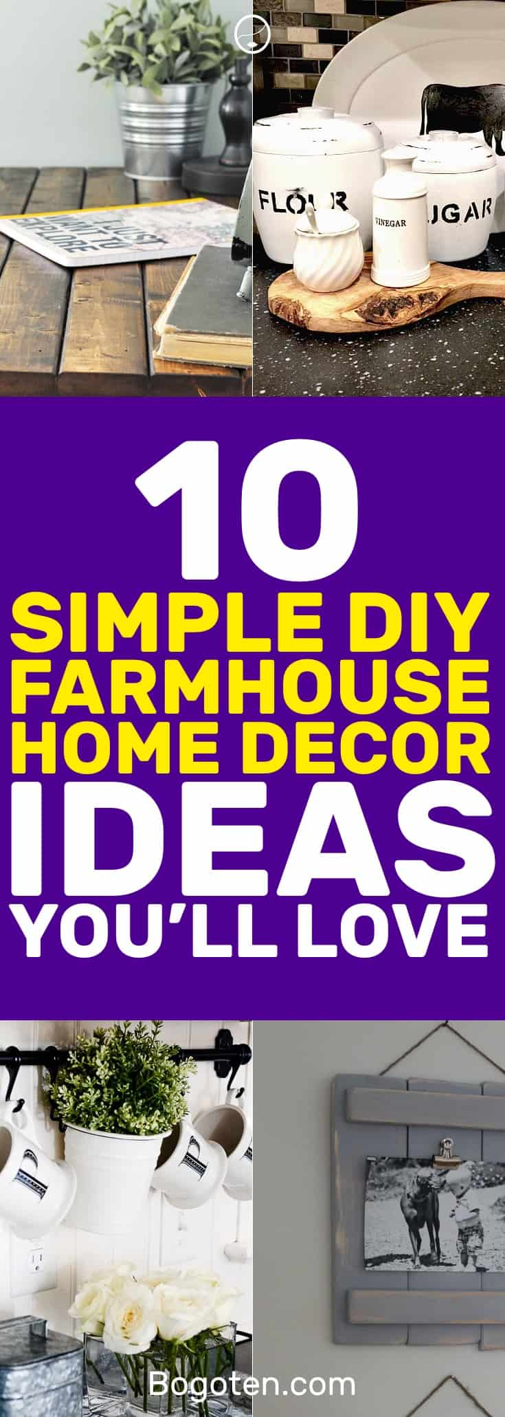 I've been looking for good looking farmhouse home decor ideas and here are some great ones. Very easy and DIY! #HomeDecor #DIY