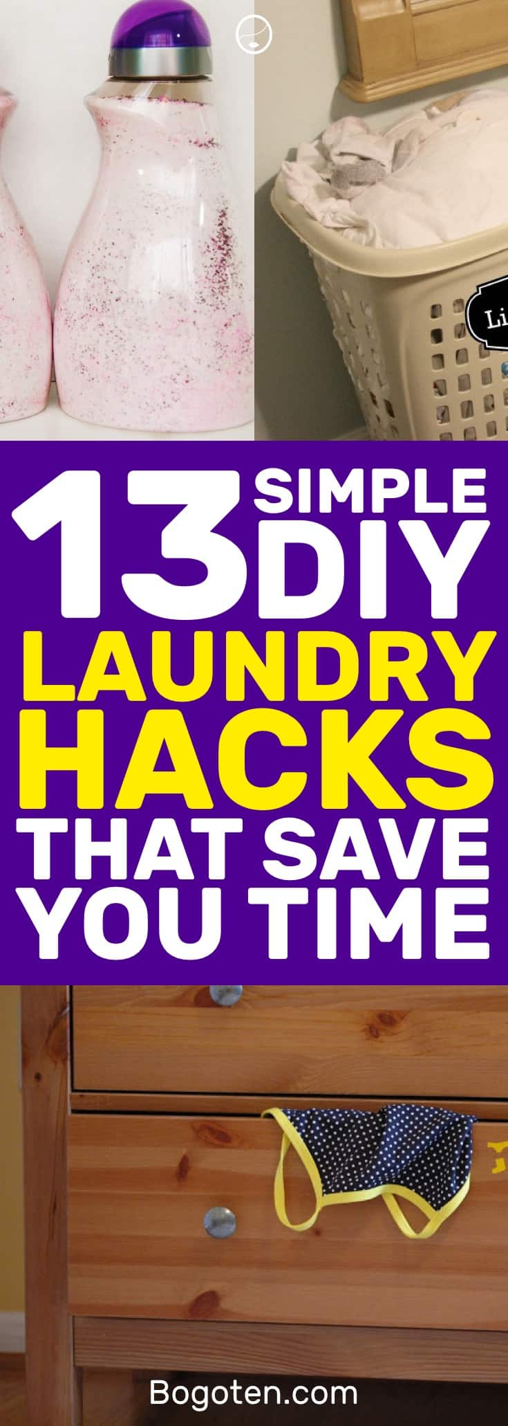 Laundry sucks but that doesn't mean it can't be better. I love these laundry DIY hacks to make laundry a lot easier. #DIY #Cleaning #Chores #Laundry