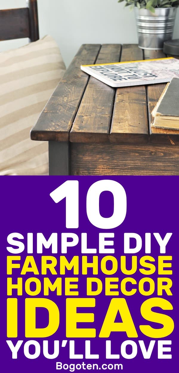 I've been looking for good looking farmhouse home decor ideas and here are some great ones. Very easy and DIY!