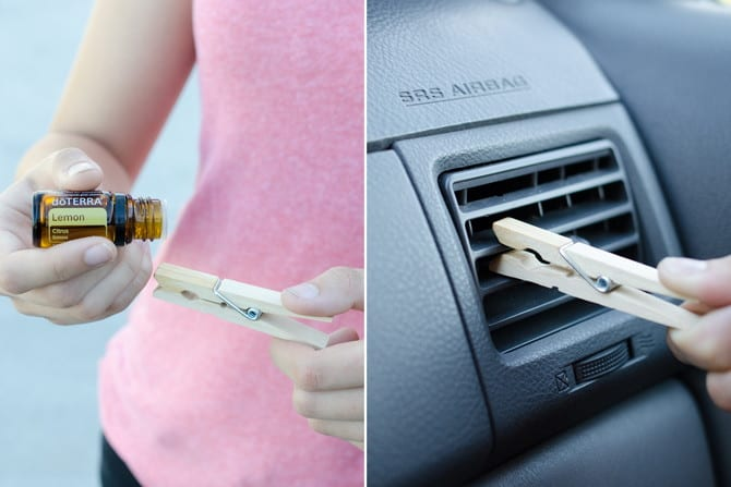 clothespin air freshener for car