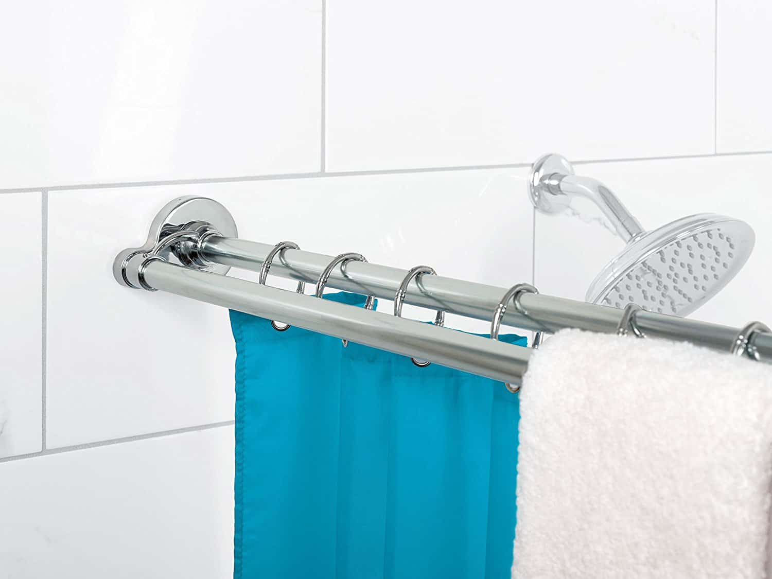dual shower rod