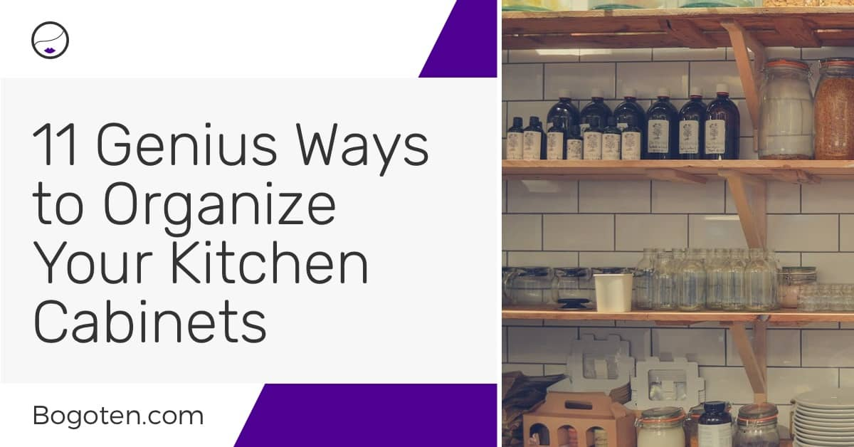 11 Genius DIY Ways to Organize Your Kitchen Cabinets