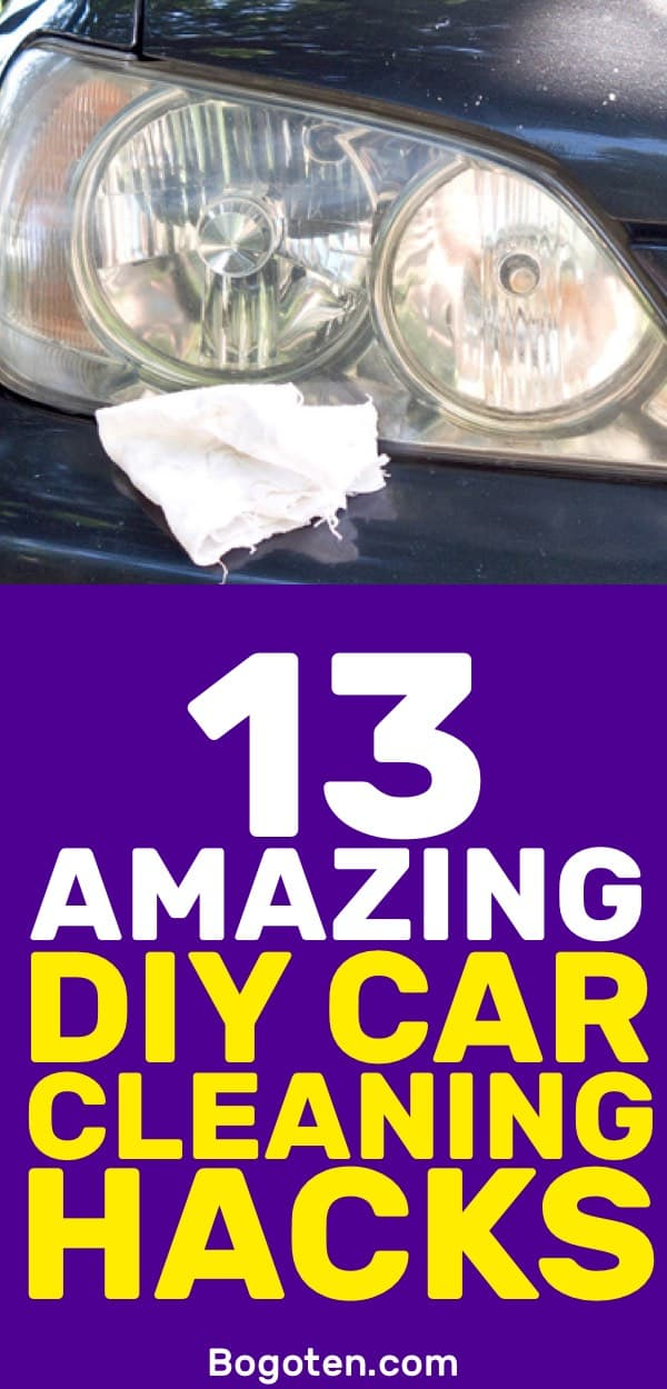 I hate having a dirty car and with these DIY car cleaning hacks I have no reason to have one! I love these ideas.