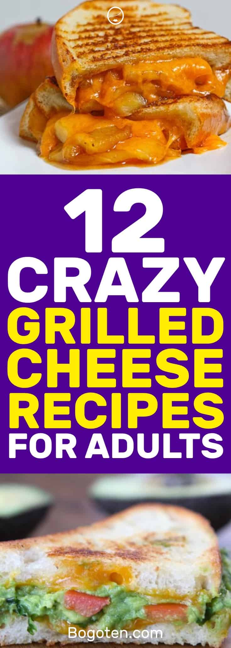 I wanted a grilled cheese sandwich and found these crazy recipes to try out. Looking forward to trying all 12 grilled cheese recipes. #Food #Cooking #SandwichIdeas