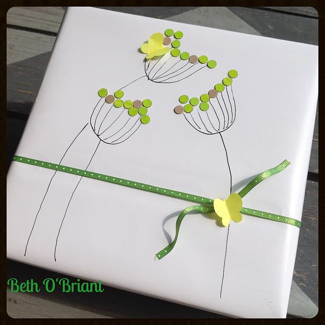hand drawn gift wrap