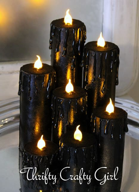 faux black candles