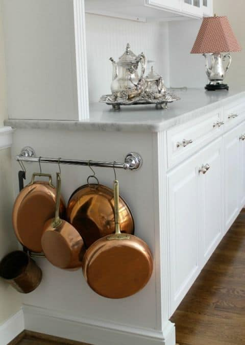 Towel rack to hang pots and pans home decor #HomeDecor