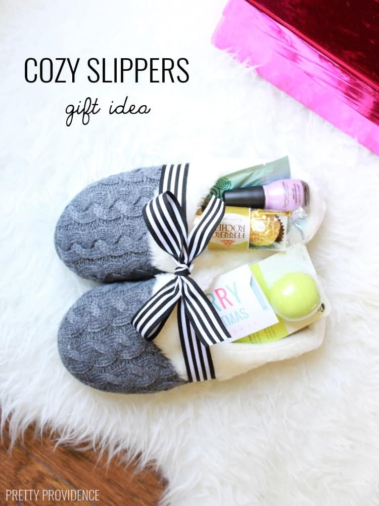 Cozy slippers gift #DIYGifts