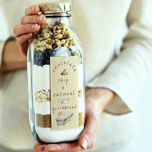 Chocolate oatmeal bake in a jar #DIYGifts