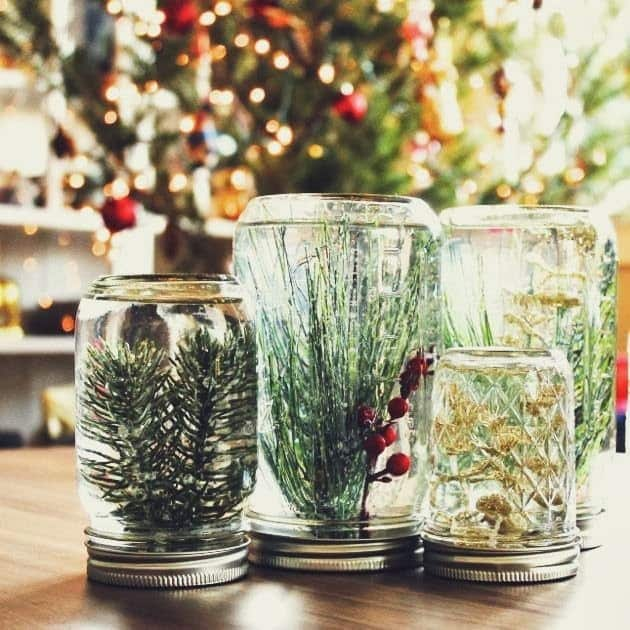 1 mason jar globes - 99 Cent Store Christmas Decorations
