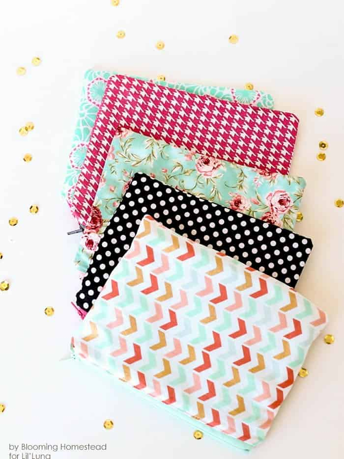 DIY zipper pouch #DIY #Sewing #Crafts