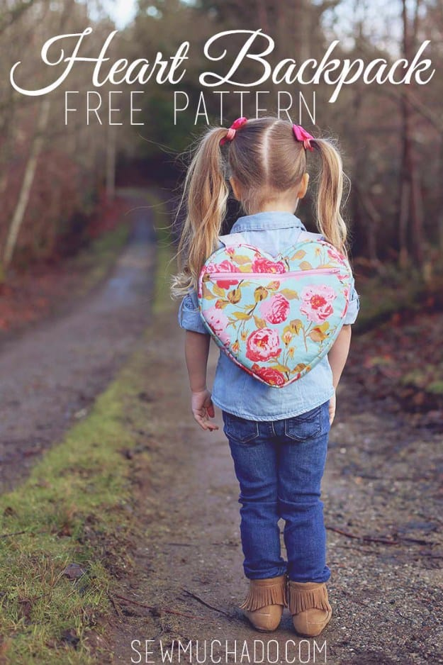 DIY Heart backpack #DIY #Sewing #Crafts