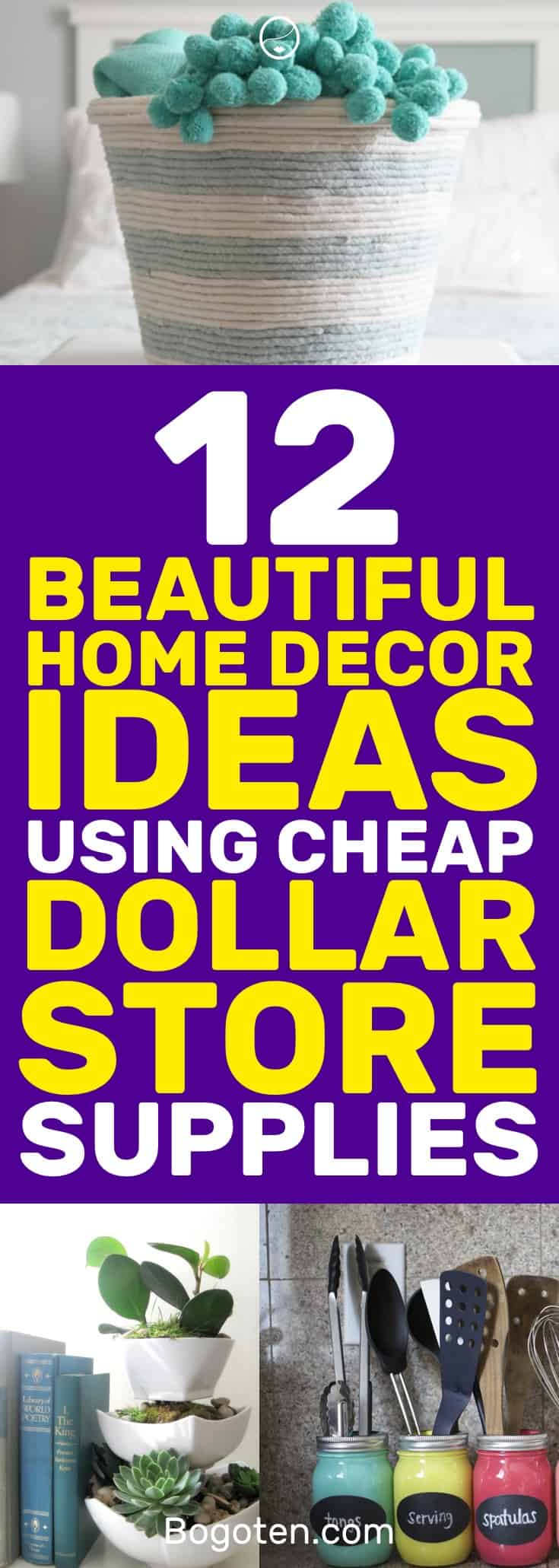 I wanted to decorate my home on the cheap without it looking cheap. These Dollar Store home decor ideas are perfect for me. Pinning! #HomeDecor #DIY #HomeDecorIdeas