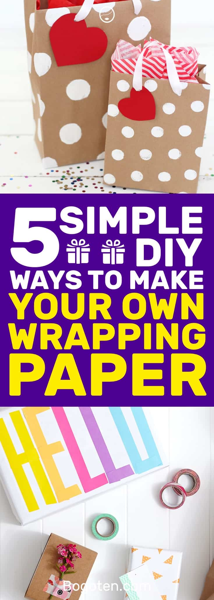 I needed some fresh ideas for wrapping paper and I came across these DIY wrapping paper ideas that will work splendidly. #DIY #DIYCrafts