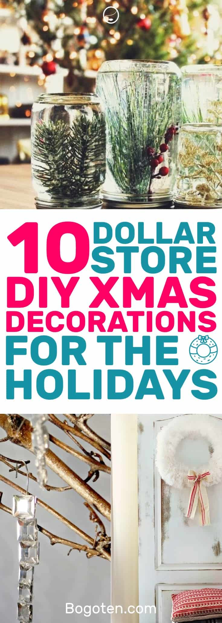 Who doesn't want to decorate their home for the holidays? These DIY Dollar Store home decor ideas will get you festive. I love them! #HomeDecorIdeas #ChristmasDecor