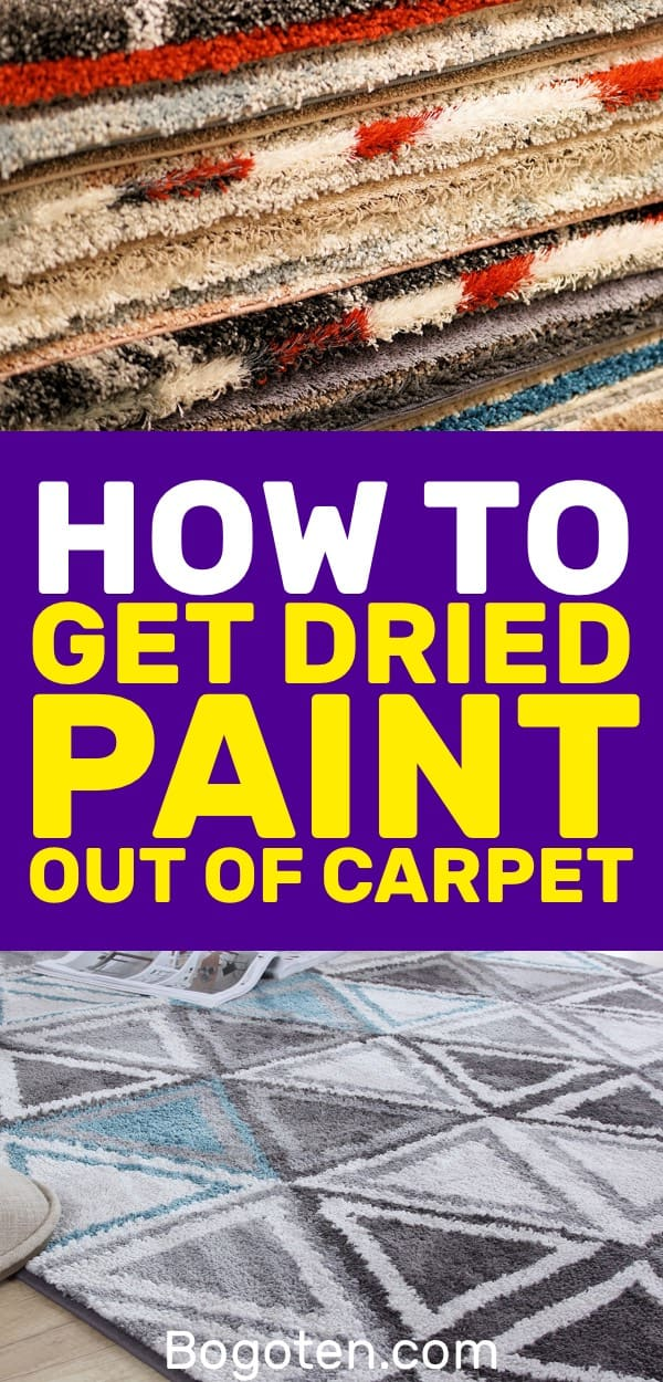 Need to get dried paint out of your carpet? Here are some tricks to help you get paint and other stains out of your carpet.