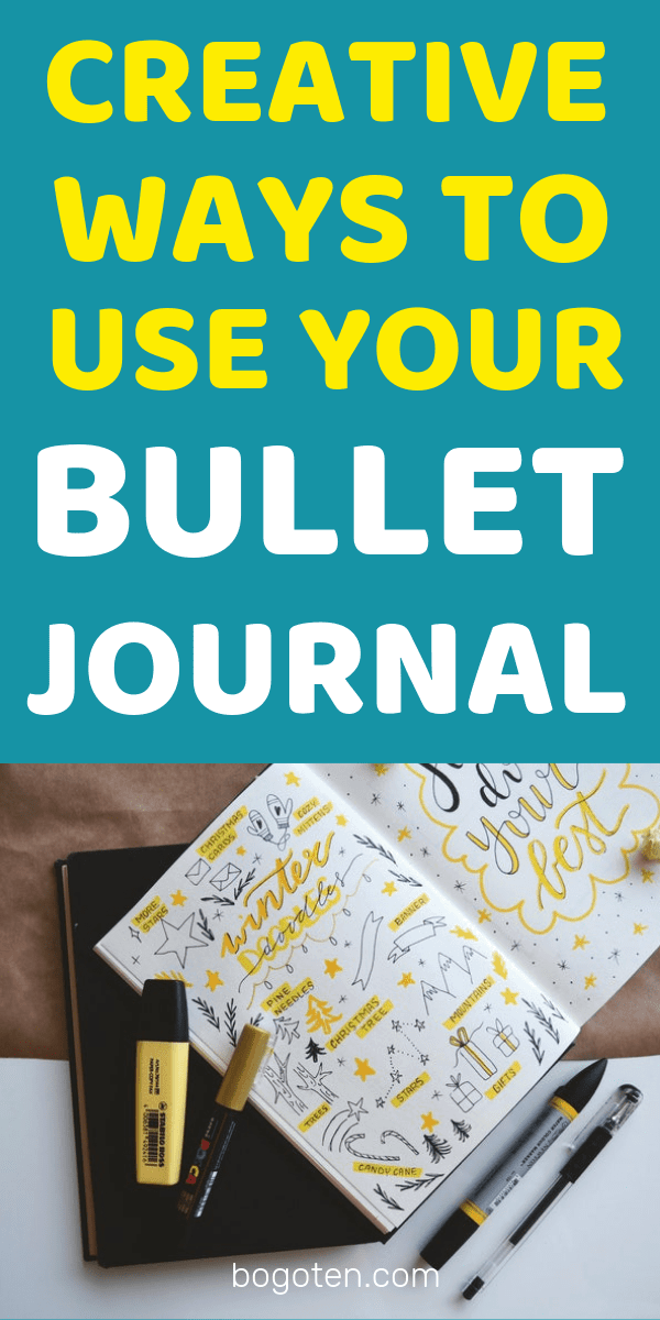 The bullet journal a very personal and personalizable way to journal, plan, and keep track of your busy life.  Here are some creative ways you can use your bullet journal!