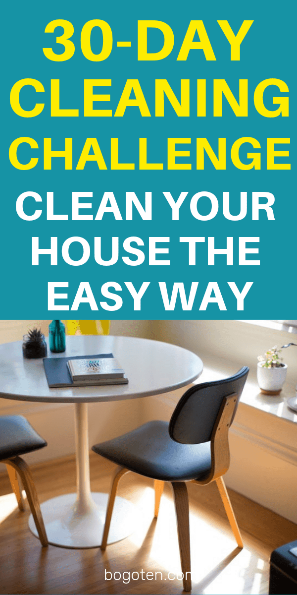 One of my biggest issues with cleaning is that it often seems overwhelming to even try to start somewhere. This challenge makes it easier!