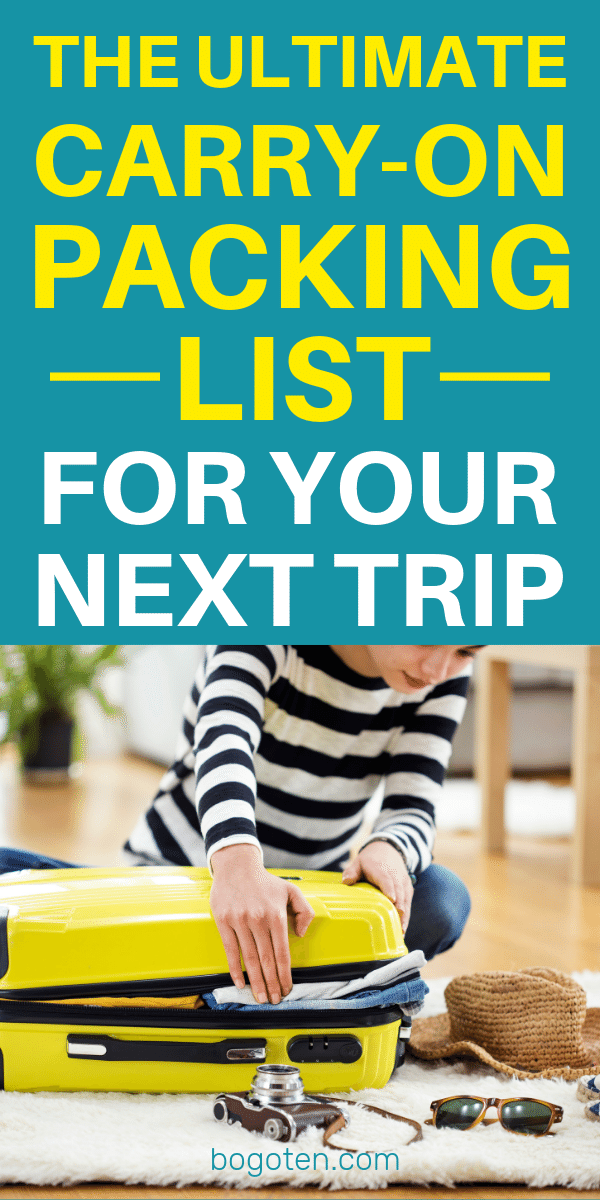 Bring everything you need without checking a bag. This flexible carry on packing list will help you travel carry-on-only no matter where you're going.