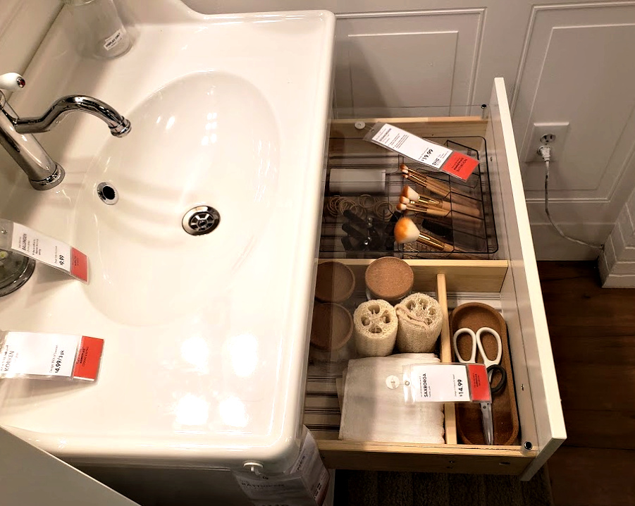 Ikea Bathroom Drawer organizers
