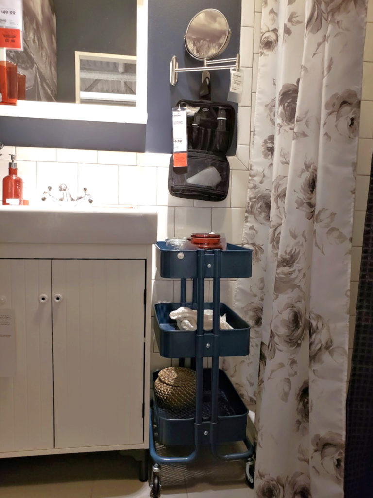 Use small spaces for bathroom storage