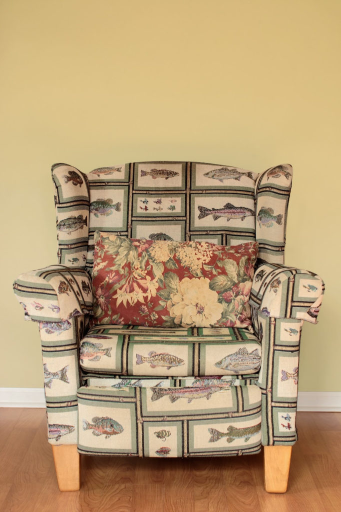 Decluttering Tips - The tacky chair someone willed to you?  Get rid of it.
