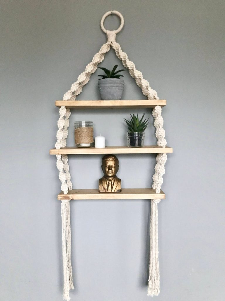 Boho Macrame shelf