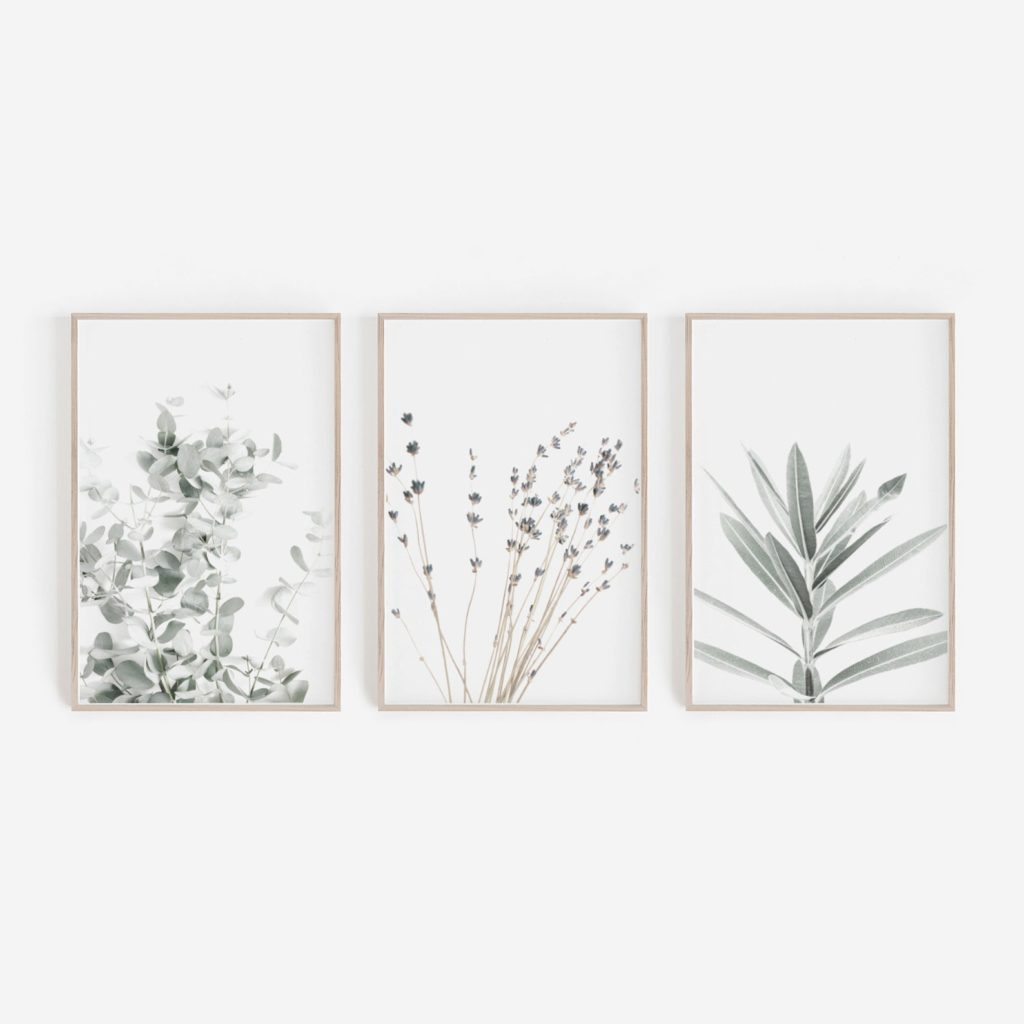Budget friendly art for the bedroom - Botanical printables