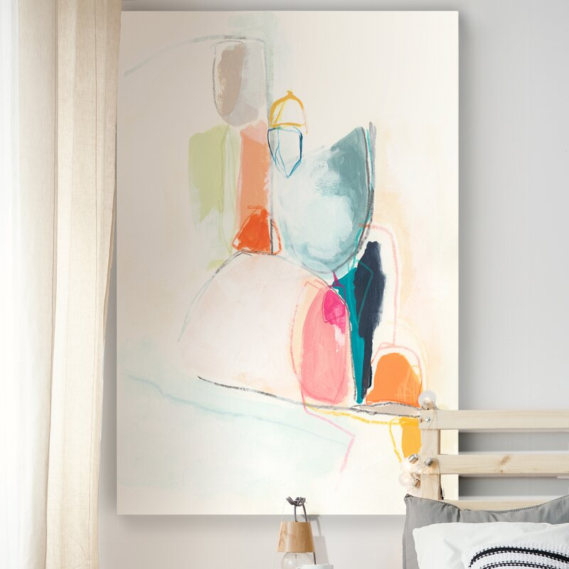 Colroful Abstract Wall Art for the space above the bed.