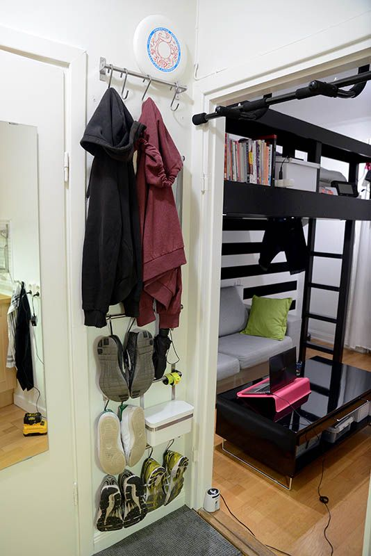 Vertical storage from Ikea.