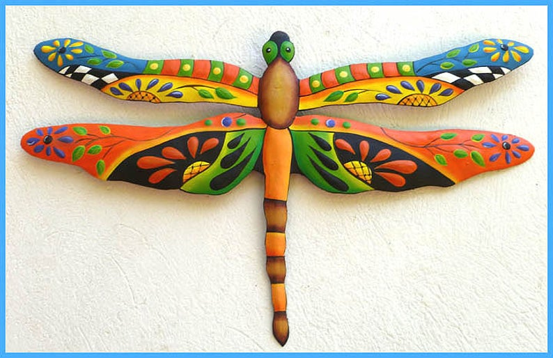 Pretty painted dragonfly