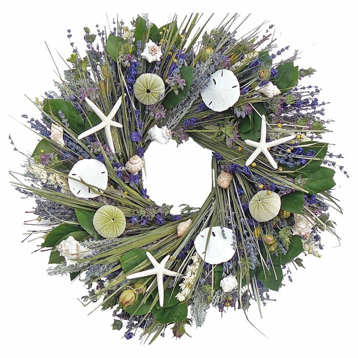 Beach themed wreath for indoors or out.