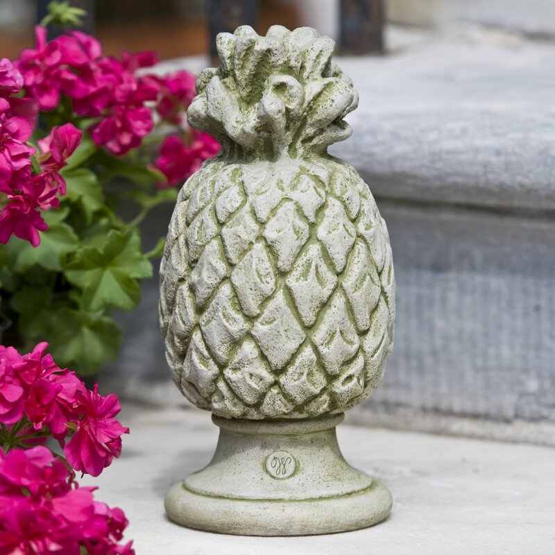 Pineapple statue to welcome to the garden