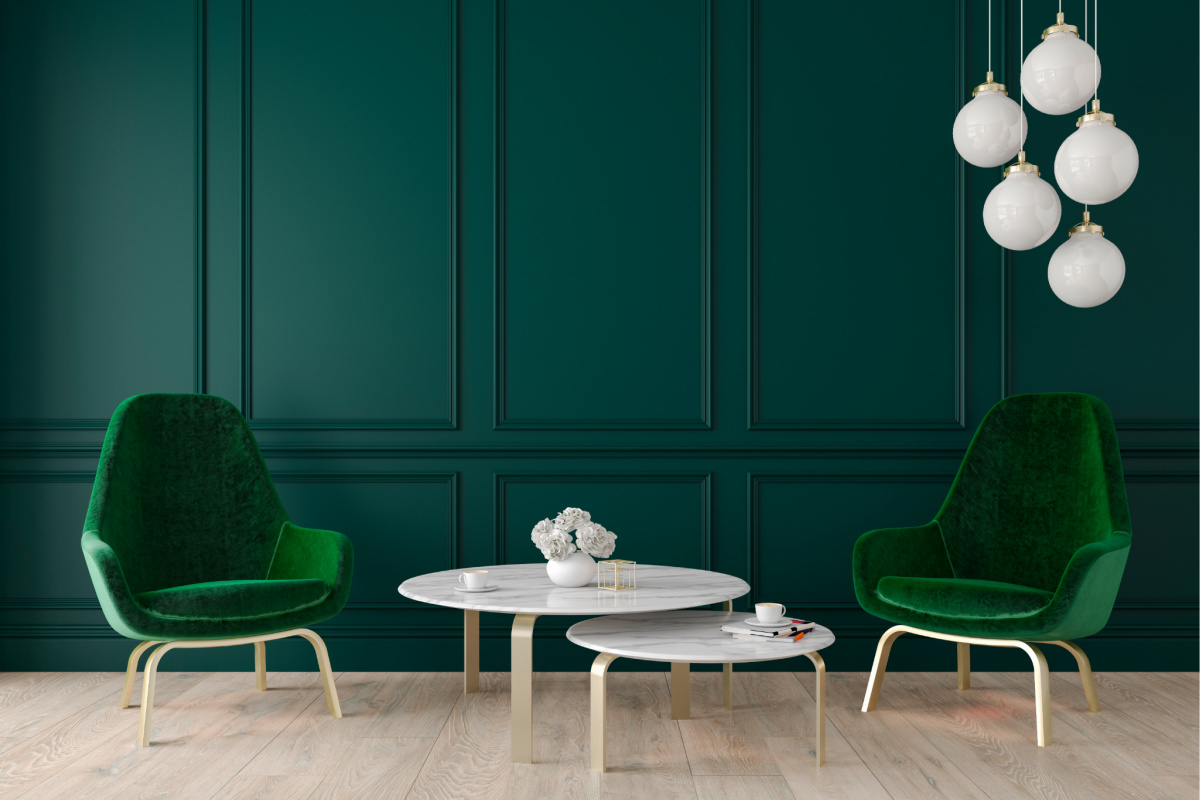 green chairs feature