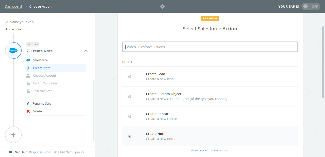 integrate salesforce with process street create note