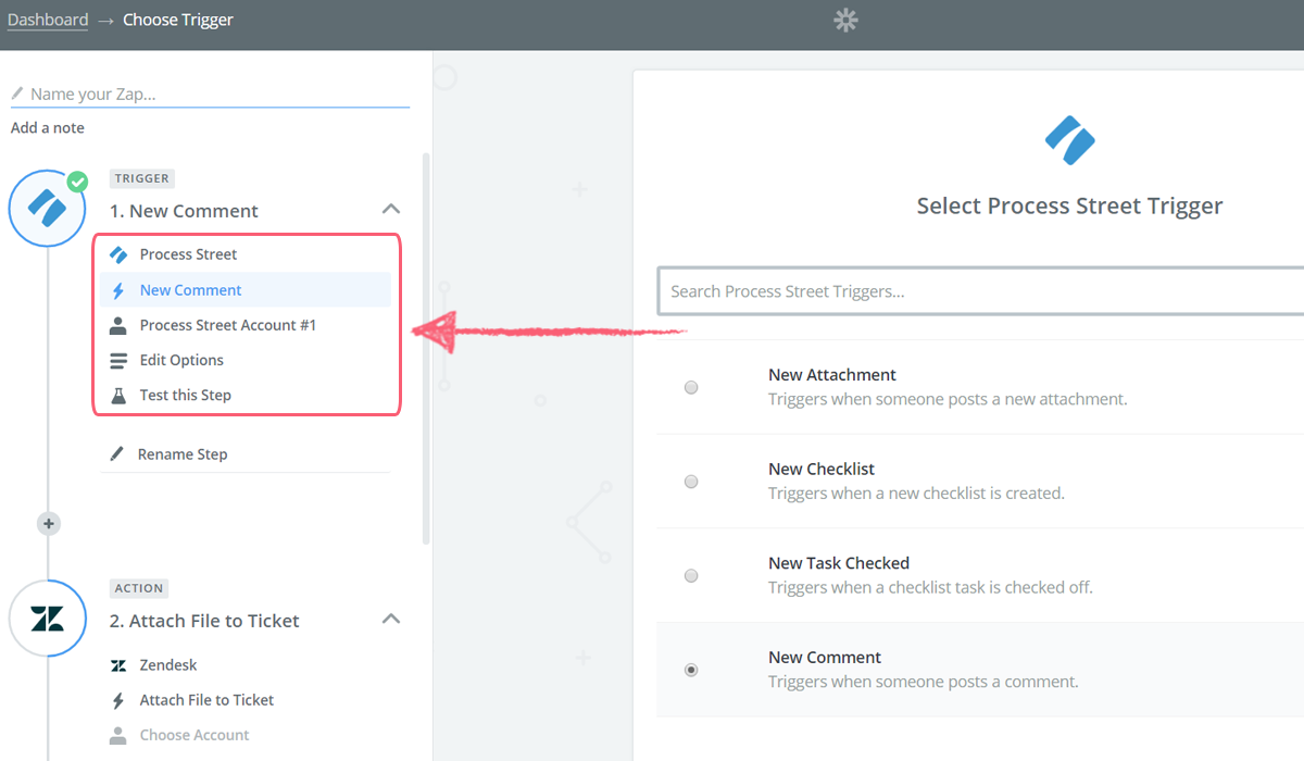 process street zendesk integration - zapier trigger