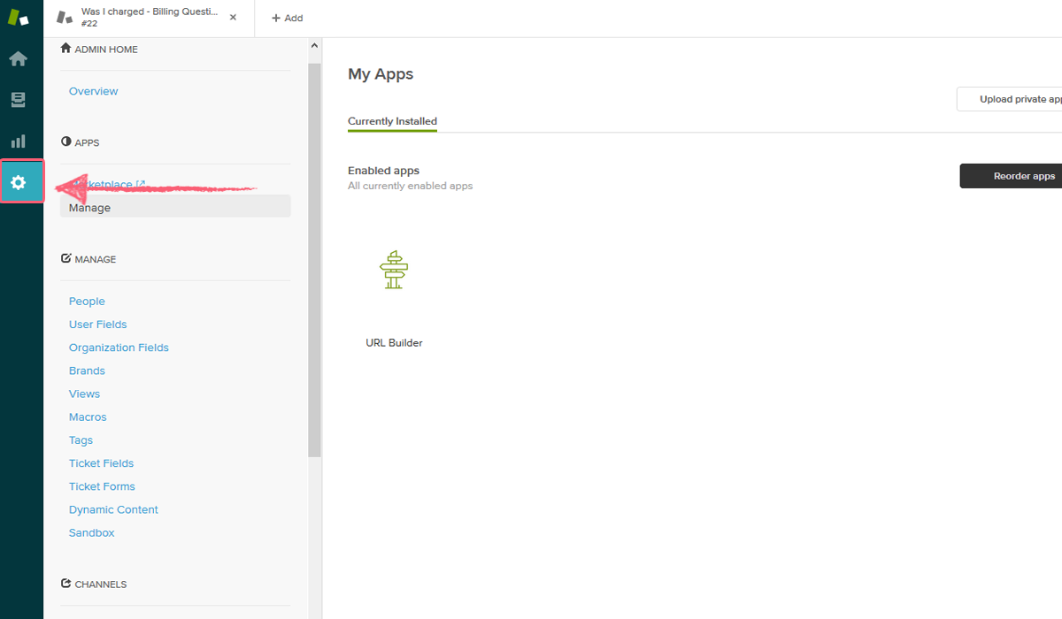 process street zendesk integration - zendesk admin section new