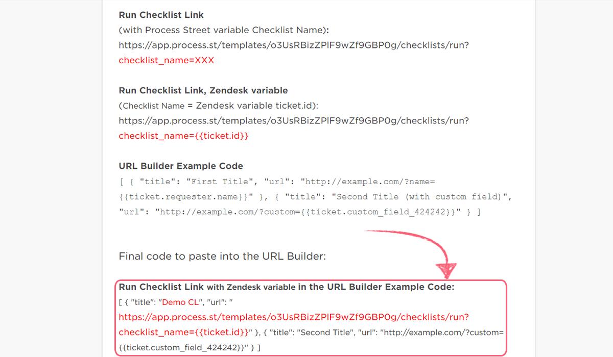 process street zendesk integration - zendesk button code ticket id new