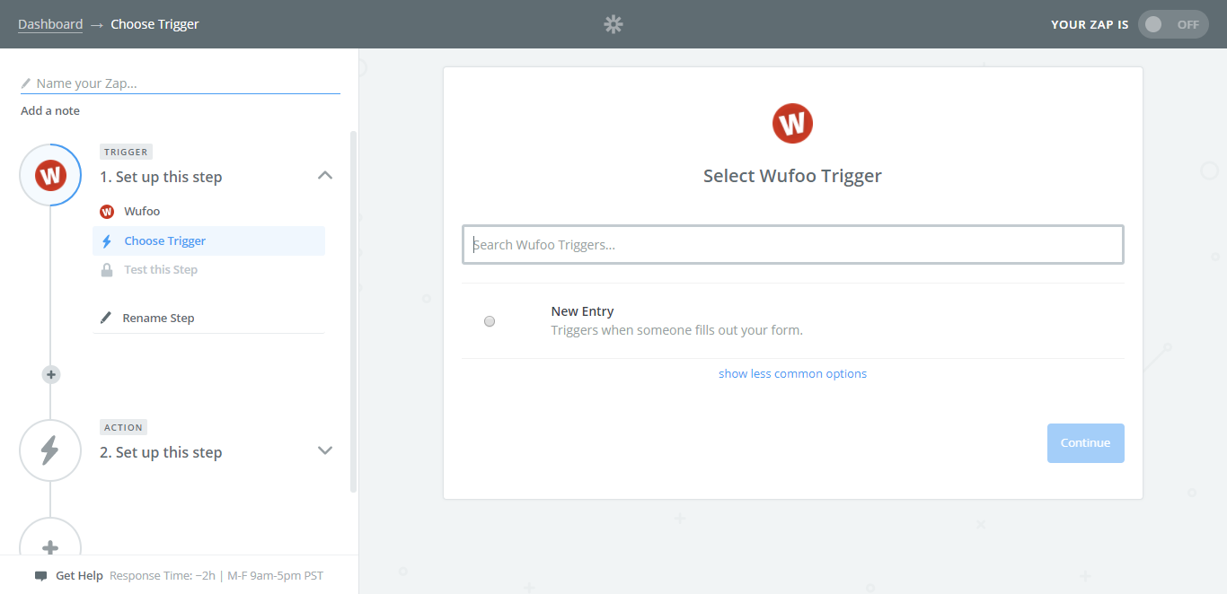 wufoo and process street integration trigger