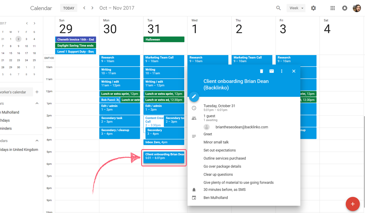 google calendar integrate process street - created event