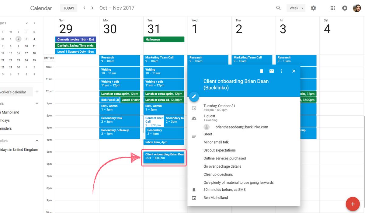 google calendar integrate process street - created event