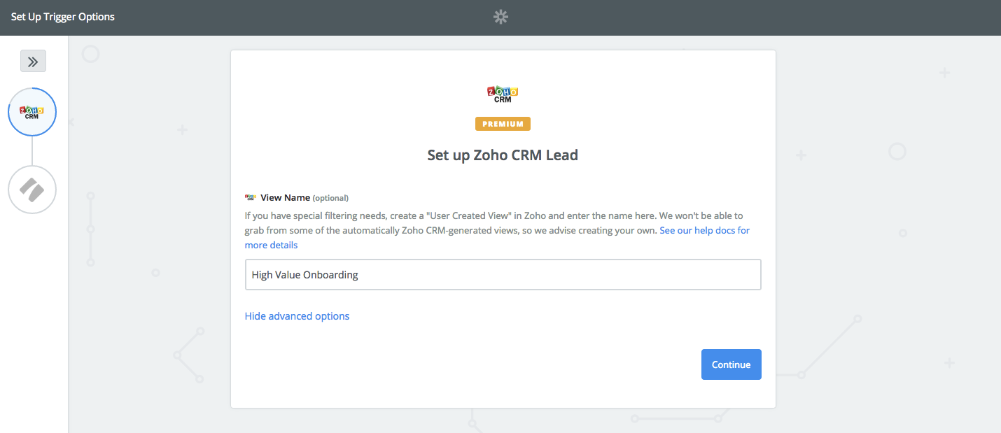 connect your process street template to zoho crm