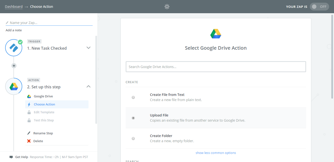 process street google drive integration file upload
