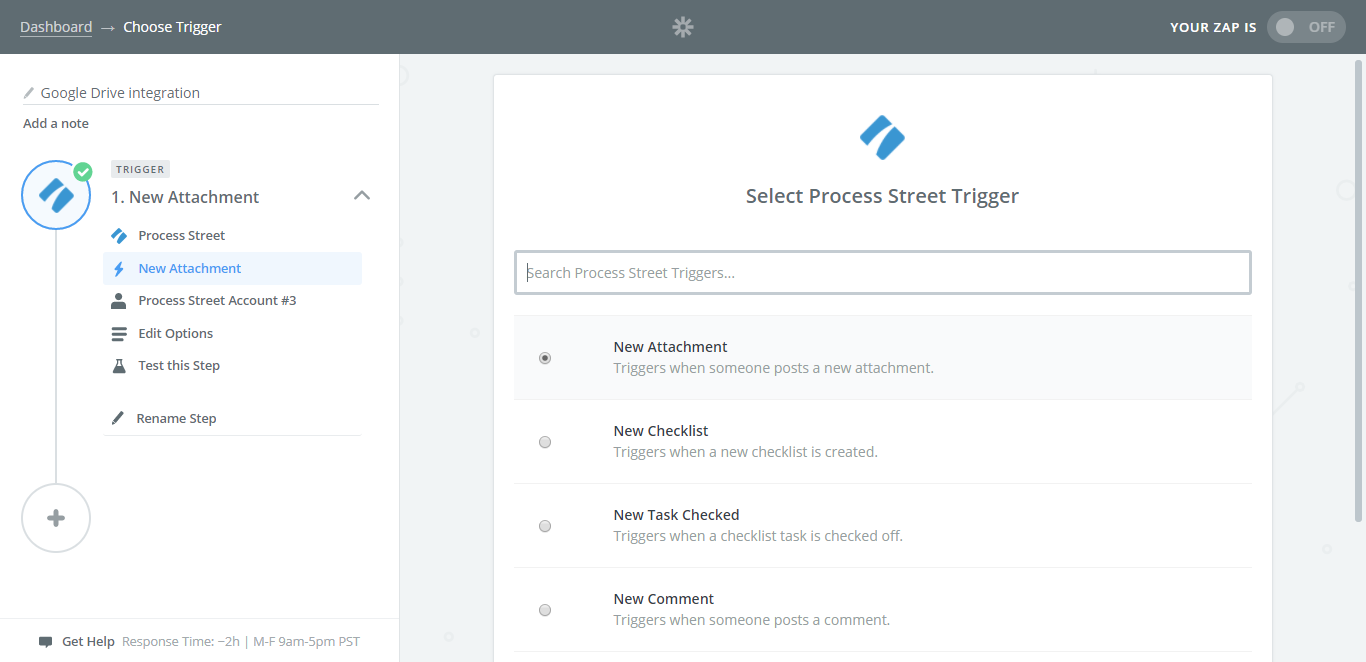 process street google drive integration new attachment