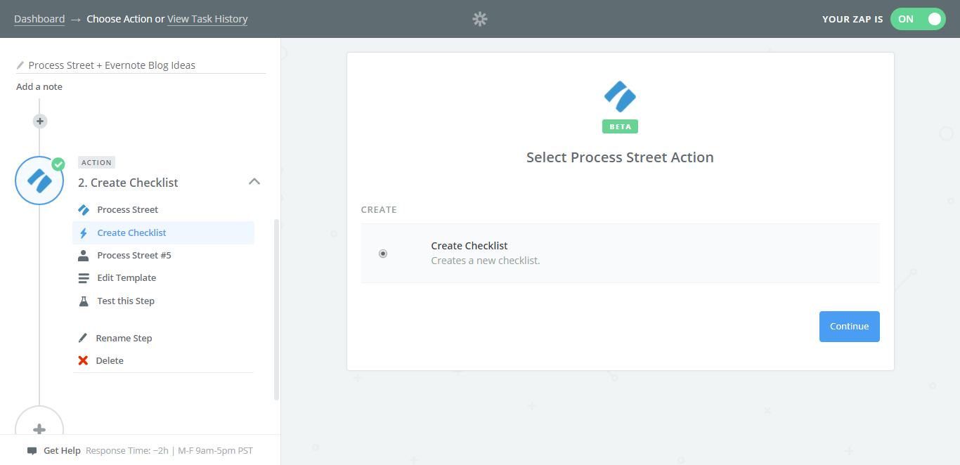 evernote process street create checklist
