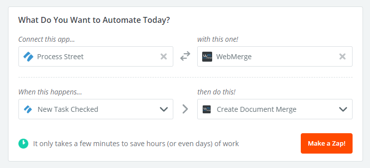 webmerge process street integration automate today