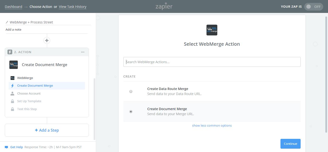 webmerge process street integration create document webmerge